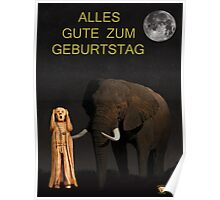 The Scream World Tour African Elephant Happy birthday German Poster