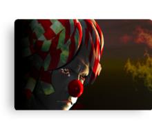 Even clowns get the blues Canvas Print