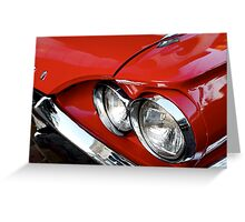 Red Hot T-Bird Greeting Card