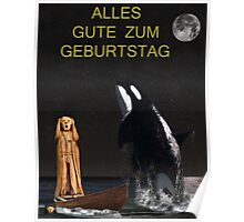 Scream with Orca Happy Birthday German Poster