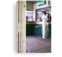 beer and cricket whites Canvas Print