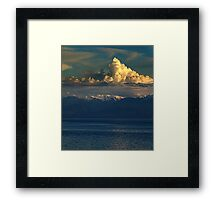 Cloud-Cap, Snow-Cap Framed Print