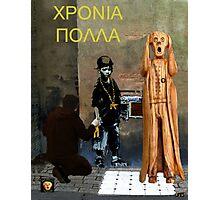 The Scream World Tour  street art Happy Birthday Greek Photographic Print
