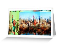 Superman saves the day Greeting Card