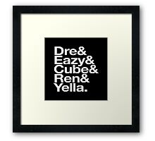 Straight Outta Helvetica Framed Print