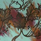 Acrylic Autumn by linmarie