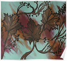 Acrylic Autumn Poster