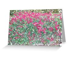 flow wall Greeting Card