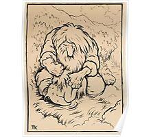 Theodor Kittelsen Troll som vasker ungen sin study for troll washing its brat Poster