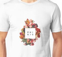 Floral Phi Sigma Sigma Unisex T-Shirt