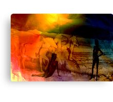 Equines & Girls. Canvas Print