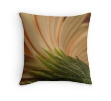 Curved flower Throw Pillow