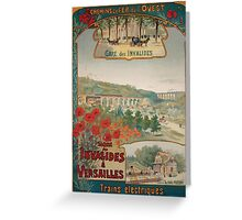 Gustave Fraipont Affiche Ouest Invalides Versailles Greeting Card