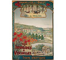 Gustave Fraipont Affiche Ouest Invalides Versailles Photographic Print