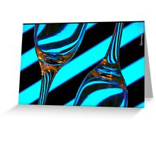 Stripes And Champagne Flutes Greeting Card