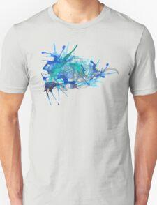 Merlin, Ocean Blue-Pale Lines Unisex T-Shirt