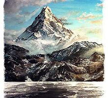 The Lonely Mountain Painting by axialdesigns