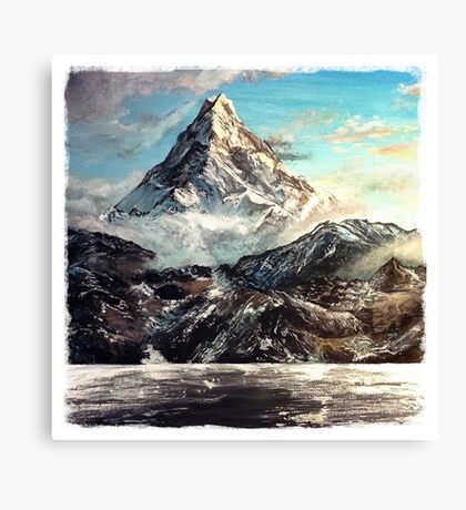 The Lonely Mountain Painting Canvas Print