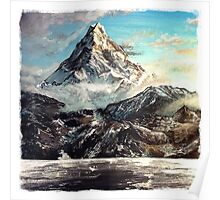 The Lonely Mountain Painting Poster