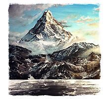 The Lonely Mountain Painting Photographic Print