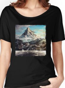 The Lonely Mountain Painting Women's Relaxed Fit T-Shirt