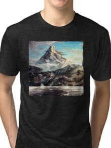 The Lonely Mountain Painting Tri-blend T-Shirt