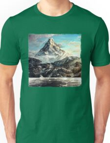 The Lonely Mountain Painting Unisex T-Shirt