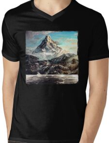 The Lonely Mountain Painting Mens V-Neck T-Shirt