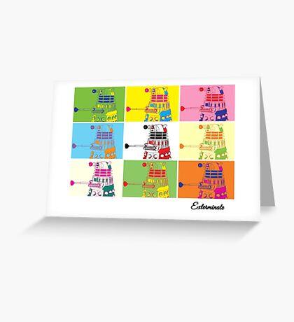 Dalek Warhol Greeting Card