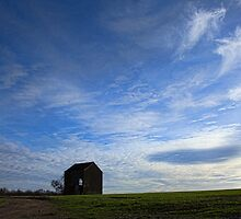 The Lonely Barn ..Against a big sky... by brimo