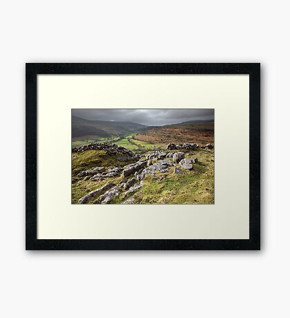 Hubberholme From Buckden Out Moor Framed Print