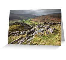 Hubberholme From Buckden Out Moor Greeting Card