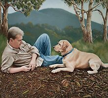 A man and his dog by vian
