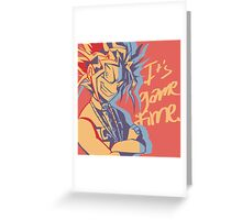 It's Game Time. Greeting Card