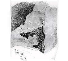 Theodor Kittelsen Ingrid portrait of baby 1890 Poster