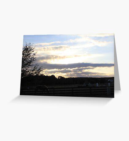sun trough clouds Greeting Card