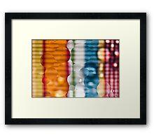Coloured Bubbles Framed Print
