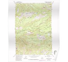 USGS Topo Map Oregon Government Camp 280057 1962 24000 Poster