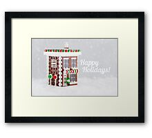 The Gingerbread Shop Framed Print