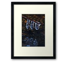 Three Icicles Framed Print
