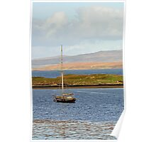 Boat on Loch Dunvegan Poster