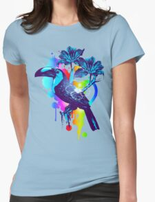 Rainbow Toucan Womens Fitted T-Shirt
