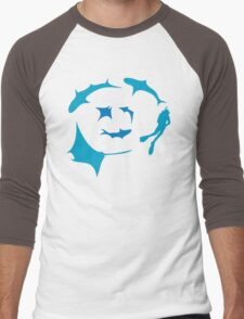 'Circling' - T-shirt for dive gods :) Men's Baseball ¾ T-Shirt