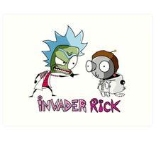 Invader Rick Art Print