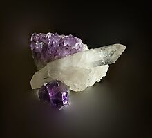 Amythest and Quartz Crystals by PaulaKlavins