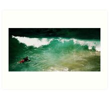 Surfing the Sea Art Print