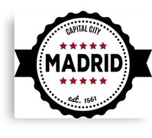 Madrid capital city  Canvas Print