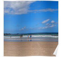 A day at the beach Yamba NSW Poster