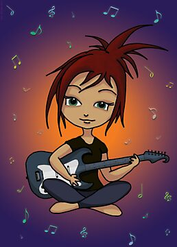 Guitar Chick by Leah McNeir