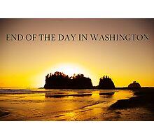 end of the day, james island, wa, usa Photographic Print